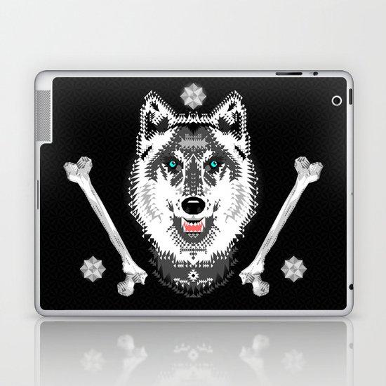 Silver Wolf Geometric Laptop & iPad Skin