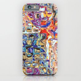 Abstract Glass Blocks iPhone Case