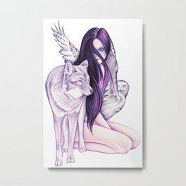 Silvermoon Metal Print