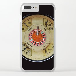 Custom Car Instrument Design with Lucky Roulette Wheel Clear iPhone Case