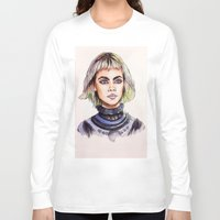 marc Long Sleeve T-shirts featuring Cara/Marc Jacobs 2014 by vooce & kat