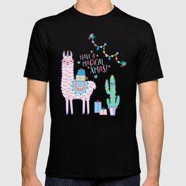 llamacorn llama unicorn alpaca xmas christmas gift idea T-shirt