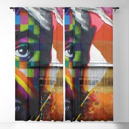 African American 26th Street Miami, Florida Mural 'Legends of Hip Hop' Blackout Curtain