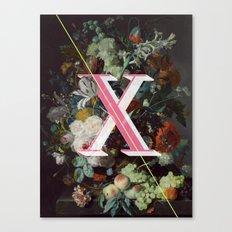 Letter X Canvas Print