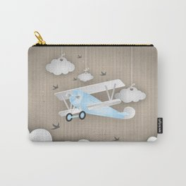 Blue Plane Ride Carry-All Pouch