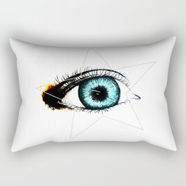 Looking In #3 - Original sketch to digital art Rectangular Pillow