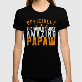 Officially Amazing Papaw Fathers Day Gift Idea T-shirt