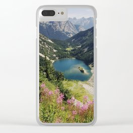 Cascade Summer Wildflowers Clear iPhone Case
