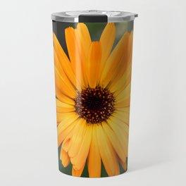 Orange marigold closeup Travel Mug