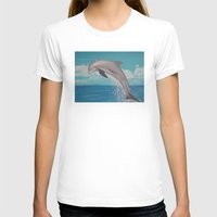 dolphin T-shirts featuring Dolphin by Sara Huszak Art and Design