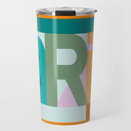 Paris font play art deco style Travel Mug