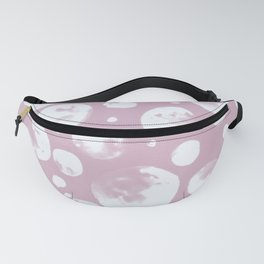 Seamless spheres pattern-light mauve background Fanny Pack