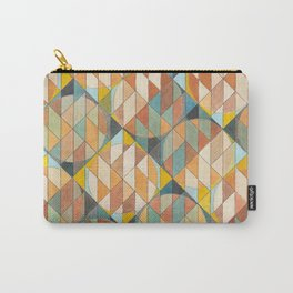 Triangles and Circles Pattern no.23 Carry-All Pouch