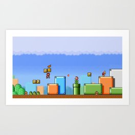 World 1-1 Art Print