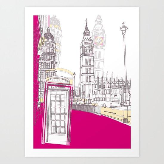 Lovely London II Art Print