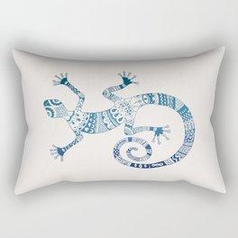 Blue Gecko Rectangular Pillow