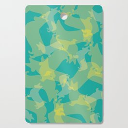 Blue & Yellow Corgi Pattern Cutting Board