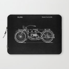Motorcycle Blueprint 1919 Laptop Sleeve