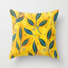 connected to nature Throw Pillow