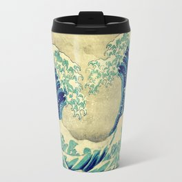The Great Blue Embrace at Yama Travel Mug