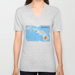 FIDLAR Hawaii Map Unisex V-Neck