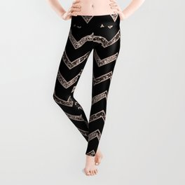 Chevron Glitter Glam #3 #shiny #decor #art #society6 Leggings