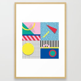 Memphis Party Framed Art Print