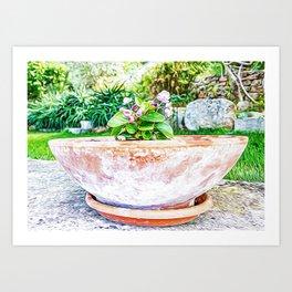 Mediterranean bush in southern Italy during summer Art Print