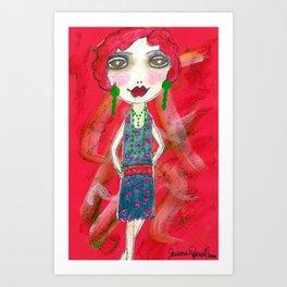 Chante the flapper girl Art Print