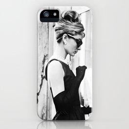 Audrey Hepburn Vintage Black and White Art iPhone Case