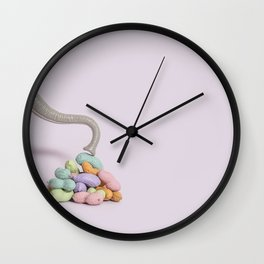 Colorful peanuts Wall Clock