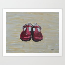 Red Mary Janes Art Print