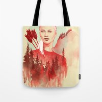 games Tote Bags featuring The Games by Katie Sanvick