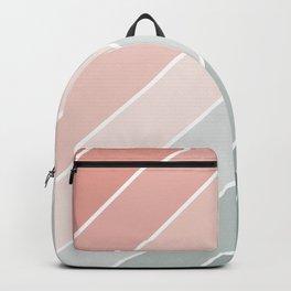Line Art Pastel Orange to Green Backpack