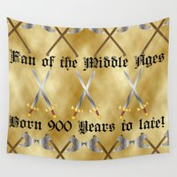medieval Wall Tapestries featuring Medieval Fan by Littlebell