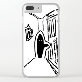 Shadow Person Clear iPhone Case