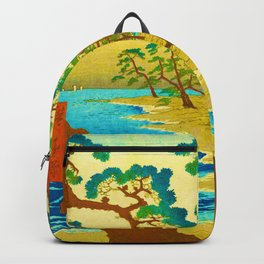 Japanese Cherry Blossom Japanese Woodblock Art Print Backpack
