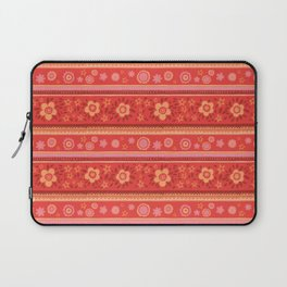 Bright Red Flowers Laptop Sleeve