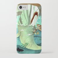 moby dick iPhone & iPod Cases featuring Moby Dick by Mary Slumber