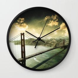 golden gate bridge in san francisco Wall Clock