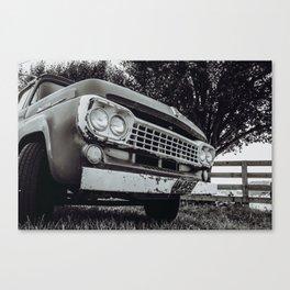 Old Trusty Farm Truck Canvas Print