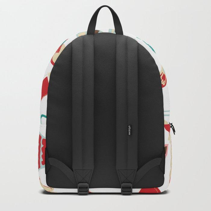 Vintage Christmas white Backpack