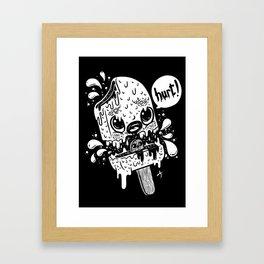 Ice cream hurt white Framed Art Print