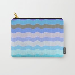 Bright Blue Bars Carry-All Pouch