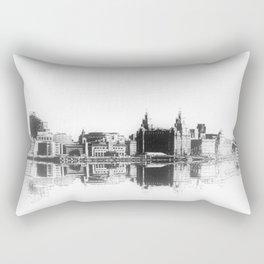 Liverpool Waterfront Skyline (Digital Art) Rectangular Pillow