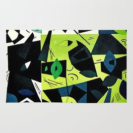 Abstract Cut Paper Rug