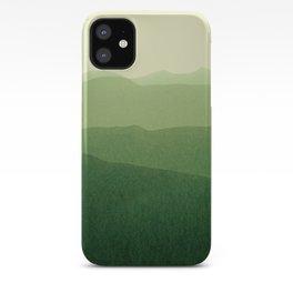 gradient landscape green iPhone Case
