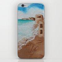 cuba iPhone & iPod Skins featuring Cuba Beach by Karelle Renaud