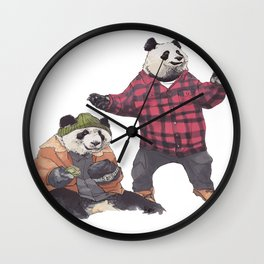 big poppa panda Wall Clock