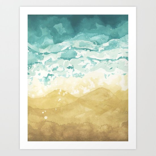 Minimalist Shore - Beach Painting Art Print